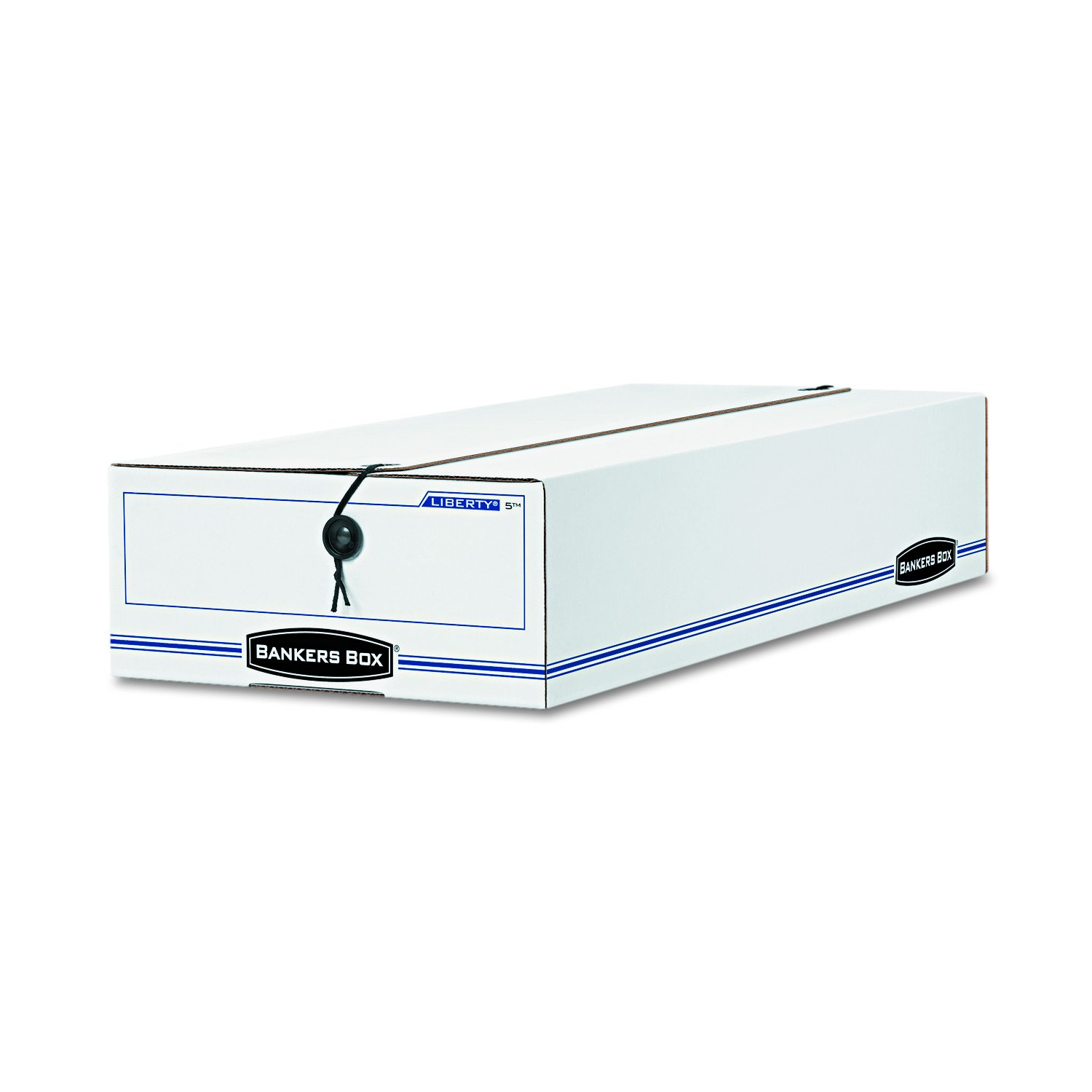 Bankers Box 00005 LIBERTY Check/Voucher Storage Box, 10 3/4 x 23 1/4 x 4-5/8, White/Blue (Case of 12) by Bankers Box