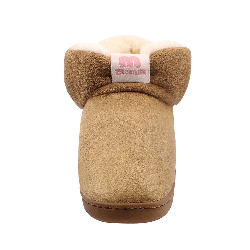 701fff81444 HomyWolf Boys Girls Cute Slippers Memory Foam Slide Slippers Kids Slip On Winter  Warm Shoes HW180910XT