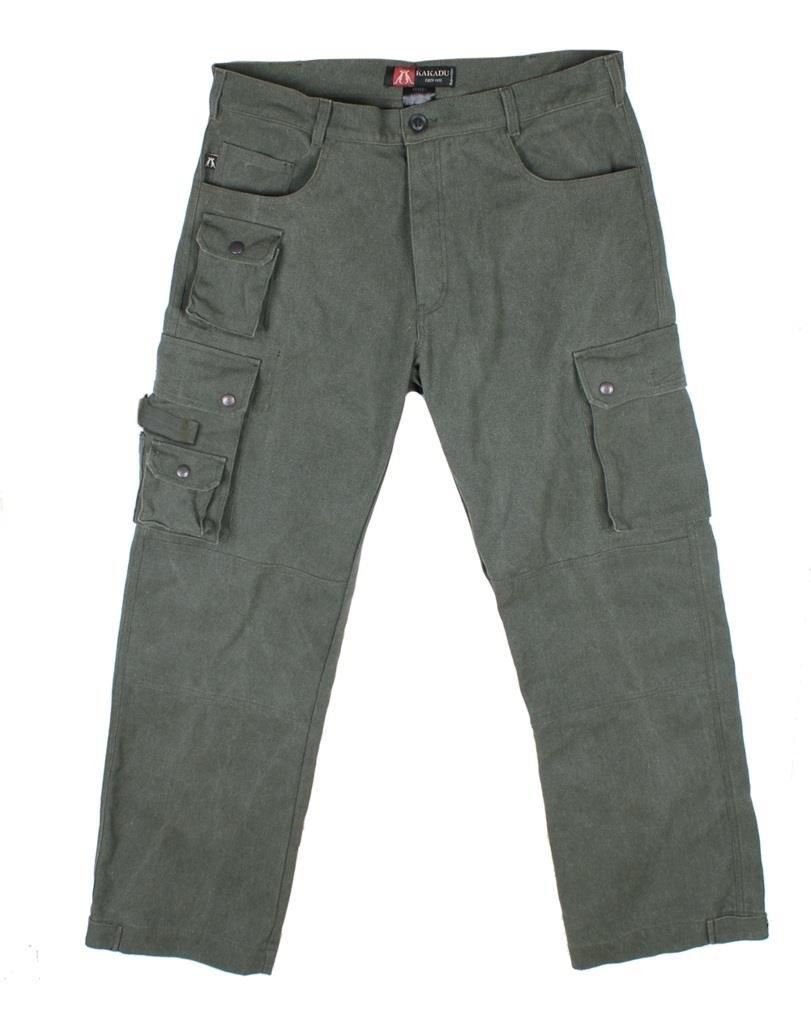 Kakadu Traders Australia Robuste Outdoor Herren Cargo Hose mit vielen Taschen und Extras in braun, Khaki und beige