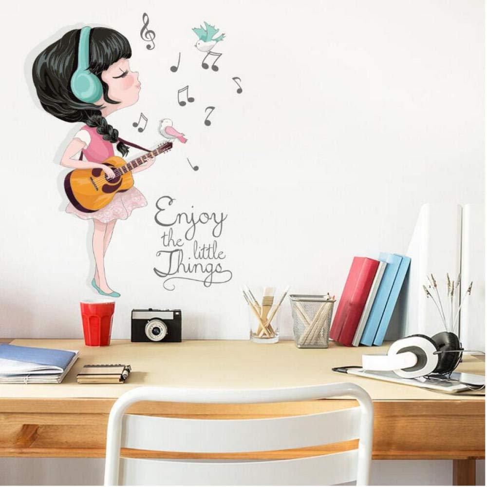 Amazon.com: Wangxj Beautiful Guitar Girl Music Sticker 3D ...
