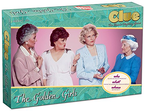 Clue The Golden Girls Board Game | Golden Girls TV Show Themed Game | Solve the Mystery of WHO ate the last piece of Cheesecake |Officially Licensed Golden Girls Merchandise | Themed Clue Mystery Game -