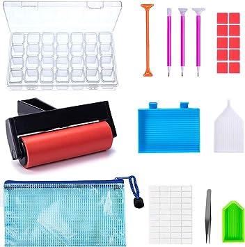 Fengyuanhong 11pcs Diamante Pintura 5D Kit de Herramientas de Diamante Pintura Accesorios de Bricolaje Arte Artesan/ía Pinzas Placa Protectora Conjunto de l/ápiz