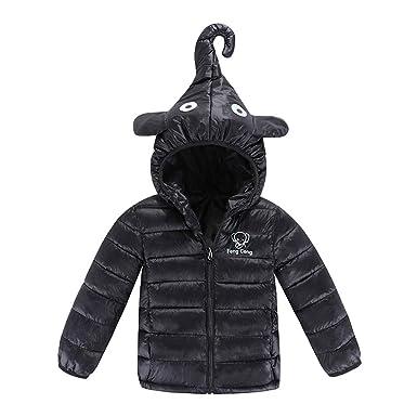 WARMSHOP Children Boys Girls Hooded Down Jacket,