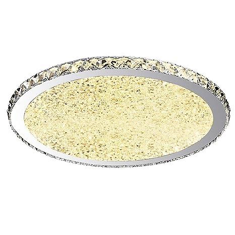 Lámpara de techo LED Plafones cristal redonda Acrílico Acero ...