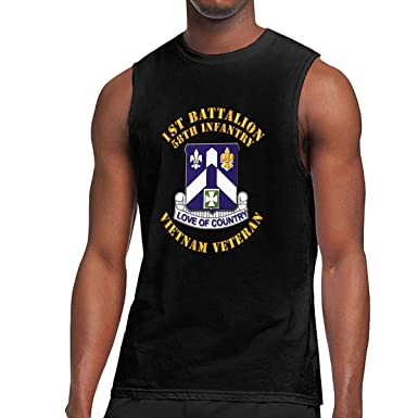 9ce367b19 Men's 1st Battalion 58th Infantry Muscle Tank Top Gym Bodybuilding  Sleeveless Shirts Black