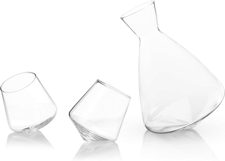 1 EA Viski Raye Crystal Rolling Decanter