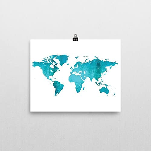 Amazon world map print dorm room decor handmade world map print dorm room decor gumiabroncs Images