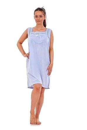 198b428fc9 Bay eCom UK Ladies Sleeveless Nightwear Plain Summer Short Nightdress Shirt  Top M to XXL