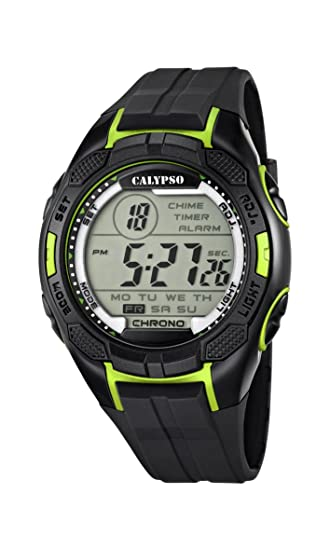 Calypso Watches Reloj Digital para Hombre de Cuarzo con Correa en Plástico K5627_4: Amazon.es: Relojes