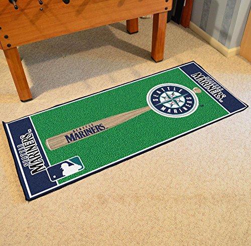 [Fanmats Home Indoor sports Team Logo Seattle Mariners Baseball Runner Mat] (Seattle Mariners Baseball Rug)