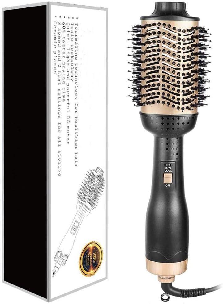 Plancha de pelo profesional - 2 en 1 rizador de cerámica Herramienta profesional 4 en 1 con rodillo giratorio eléctrico para peinar el cabello - Rizador de cabello