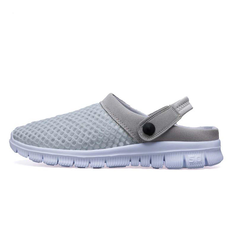 Men's and Women's Summer Mesh Beach Sandals Slippers Garden Clog Shoes Grey 40