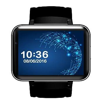 MXueei Relojes inteligentes ZfgG Smart Watch WiFi Android Step 3G Pantalla Gigante Navegación GPS Dual Core Smart Watch para Hombres y Mujeres Asistente de ...