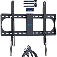 Rentliv Fixed TV Wall Mount Bracket with Low Profile Design for Most 37-70 Inch LED LCD OLED Plasma TVs - Ultra Slim Fix…