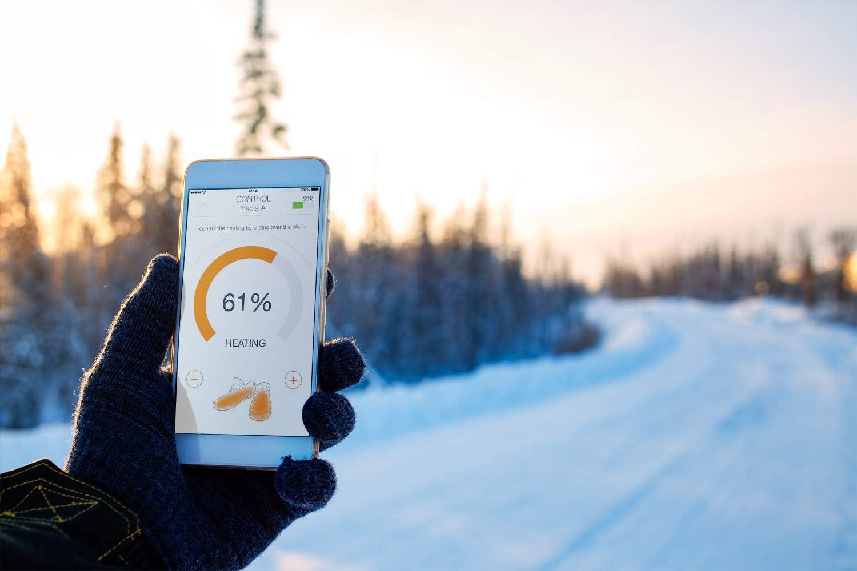Vulpés S Line Plus Intelligente Beheizbare Einlegesohlen Gegen Kalte Füße Smartphone Steuerung Sensor Basierte Wärmeregulierung Belastbar Bis Zu 200 Kg Sport Freizeit