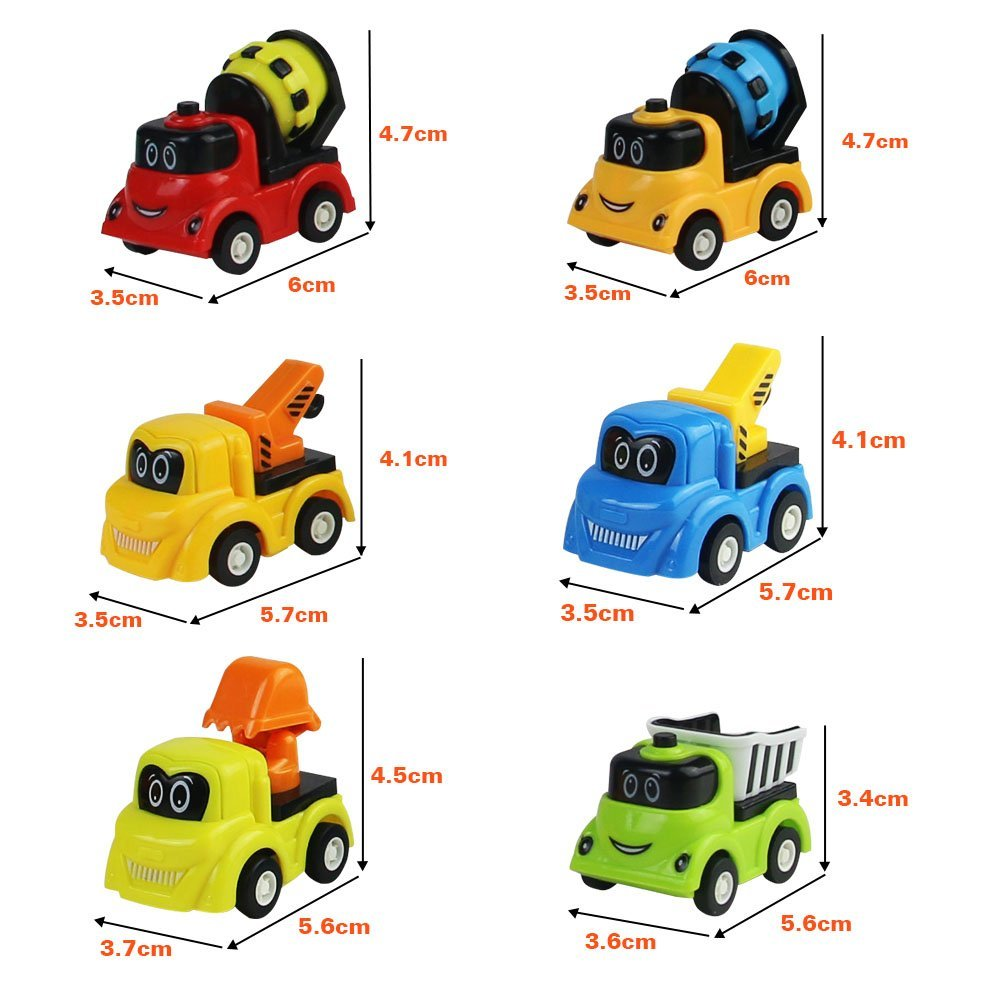 Toy Cars Truck for Kids Push and Go Construction Vehicles Play Set Colorful Mini Car Indoor Outdoor Age 3+ Yr Old For Girls Boys