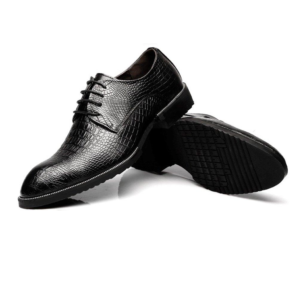 Für die neue Mode 2018 Männer echtes Leder Schuhe Up Krokodilleder Textur oberen Lace Up Schuhe Breathable Business ausgekleidet Oxfords Schwarz ce3e43