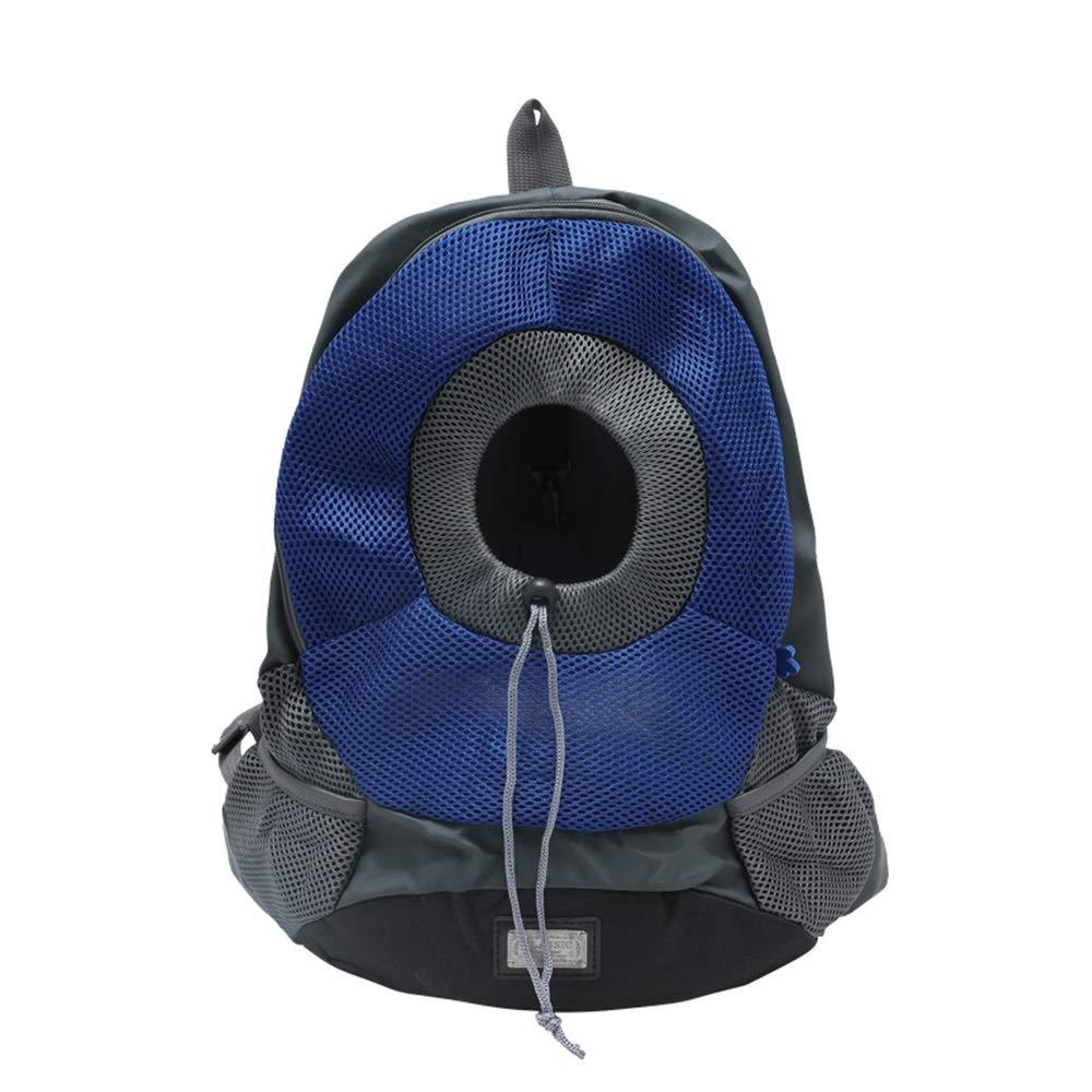 bluee LPet Backpack Outgoing Carrying Case Shoulder Bags Handbag Dog Bags Cat Cage (color   bluee, Size   L)
