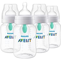 Set de 4 biberones  Philips Avent Anti-colic con sistema AirFree  9 Oz - SCF403/44