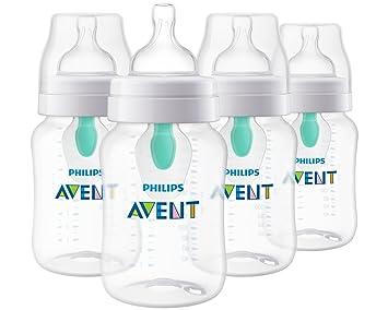 Amazon.com: Philips Avent - Botella de bebé anticólico con ...