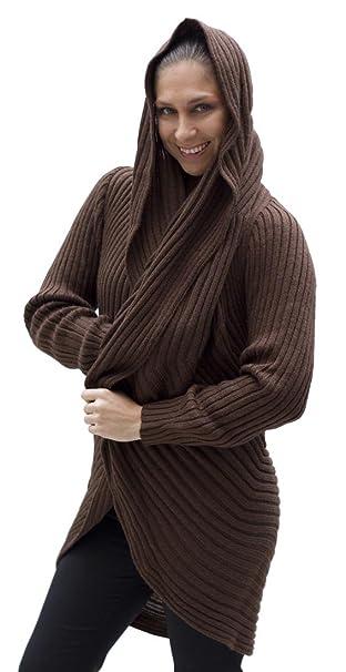 Amazon.com: chamarra de Suave lana de alpaca Knitted ...