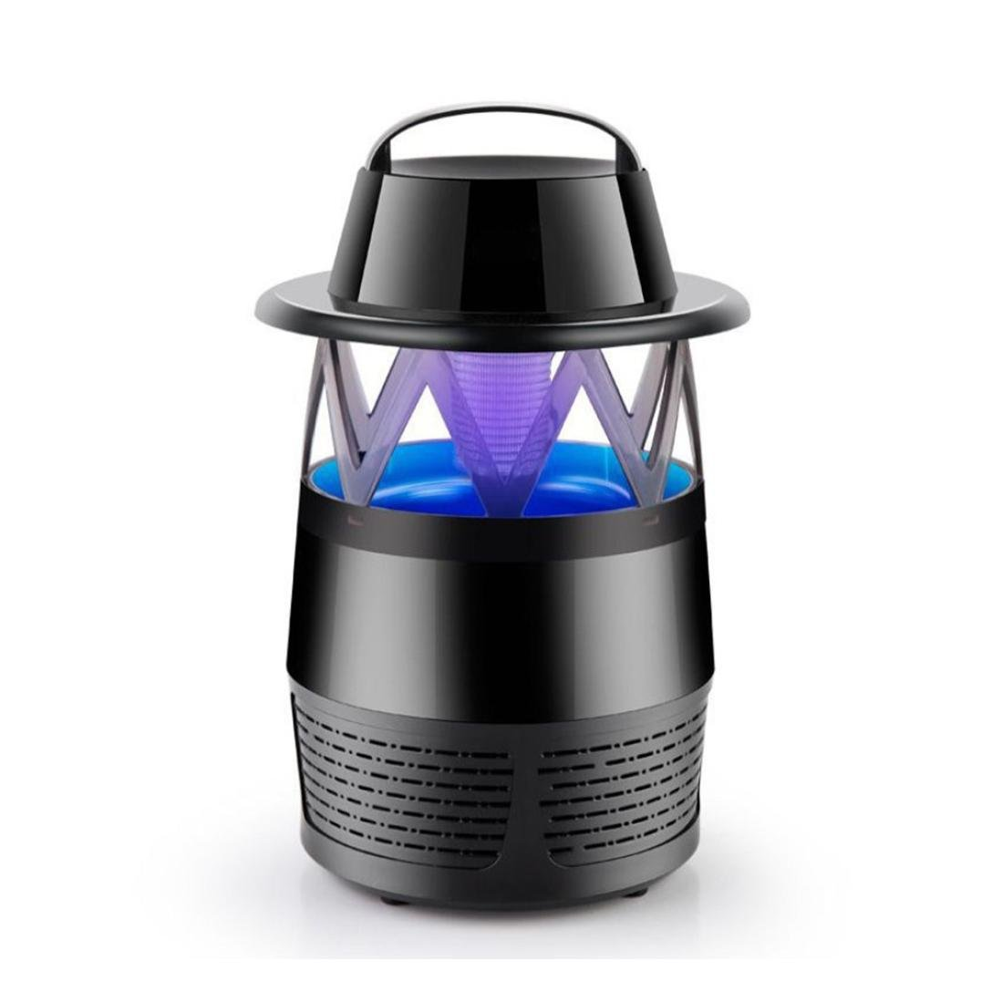 Stheanoo Electric Mosquito Zapper Non-Chemical, Non-toxic and Non-Radiative Insect Fly Moth Killer Summer Indoor Pest Control (Black)
