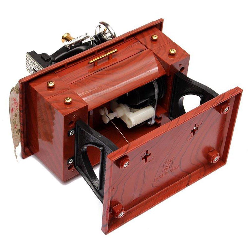 Máquina de coser Musical Box Vintage Mini Clockwork Relax Music Box Regalo de Navidad 80Store: Amazon.es: Juguetes y juegos