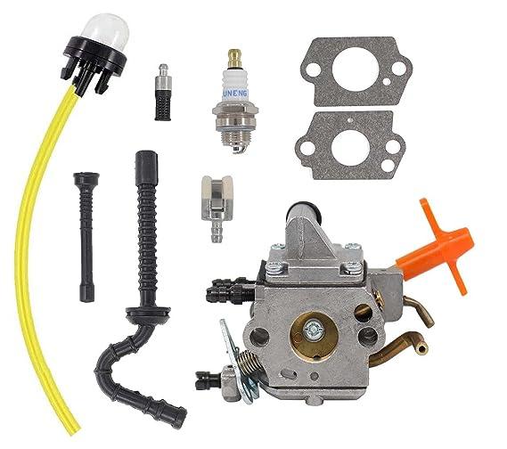 amazon com: carburetor for stihl ms192 ms192t ms192tc chainsaw zama  c1q-s258 carb fuel hose: garden & outdoor