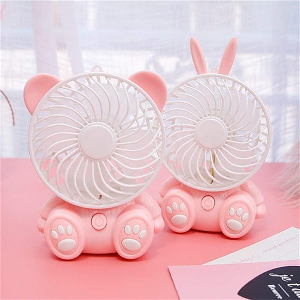 Color : A XIAOF-FEN USB Fan Desktop Portable Mini Table Fan Large Wind Dormitory Bedroom Office Cooling Fan Pink USB Fan