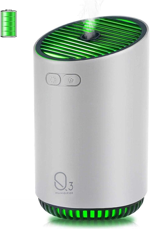 CHENMAO Inalámbrico Mini portátil de Viaje humidificador humidificador de Vapor frío, SPA, humidificador Personal for el Dormitorio, Coche, Oficina, apague automáticamente