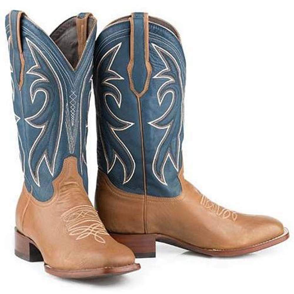 Mens Stetson Casper Boots Square Toe Handcrafted JBS Collection