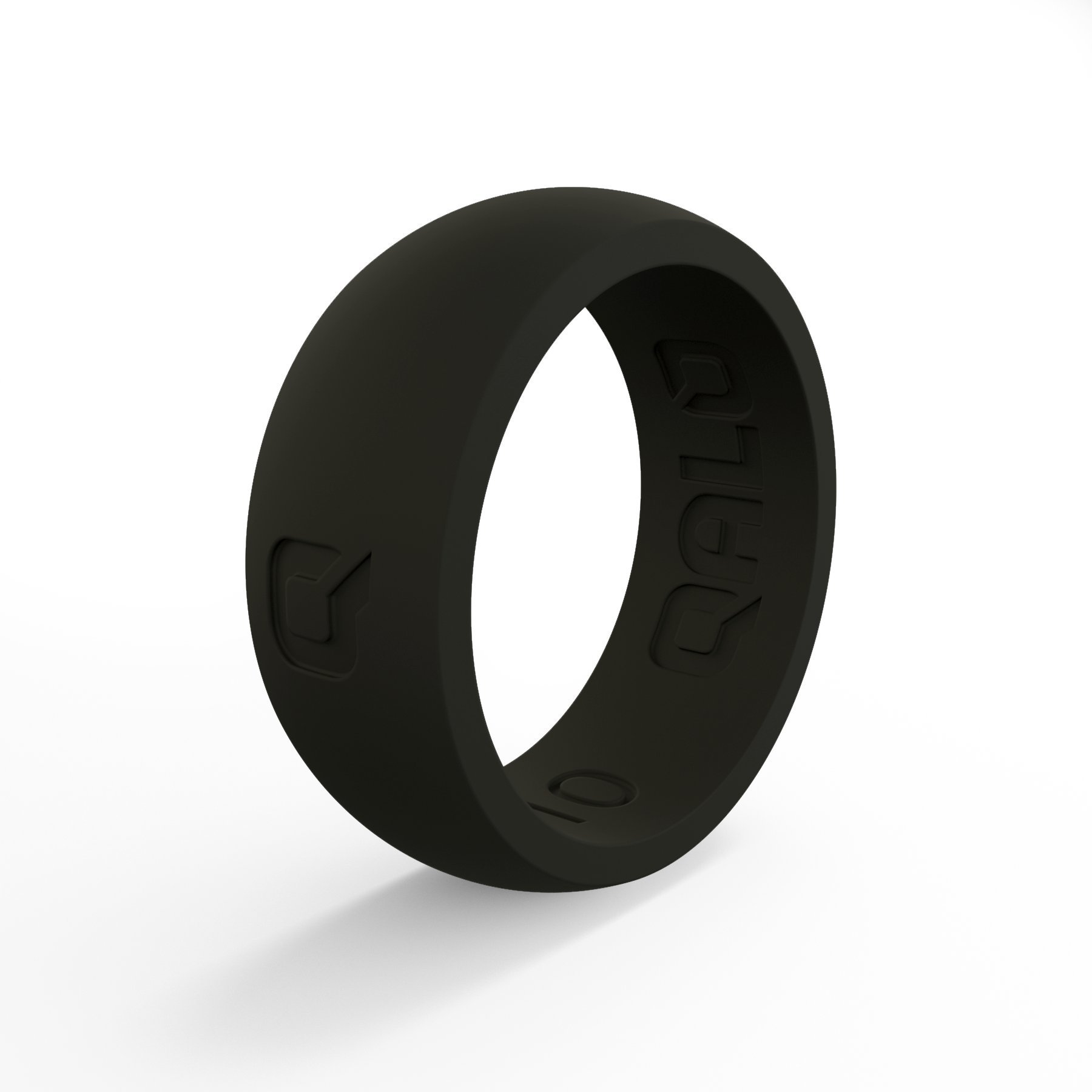 Men's Black Classic Q Q2X Silicone Ring Size 15