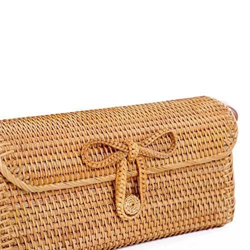 paglia spiaggia mano Borsa borsa Shopping Small pura esterno da spiaggia Viaggio a colinsa portaoggetti di qvXxCEdxw