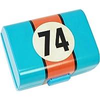 COM-FOUR® Brotdose für Unterwegs mit verschiedenen Motiven, Lunch-Box für Kinder mit Trennwänden
