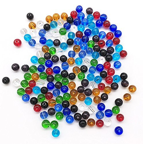 Waltz&F 8mm 500pcs Round Crystal Glass Beads for Jewelry Making Findings Wholesale Mix Lots