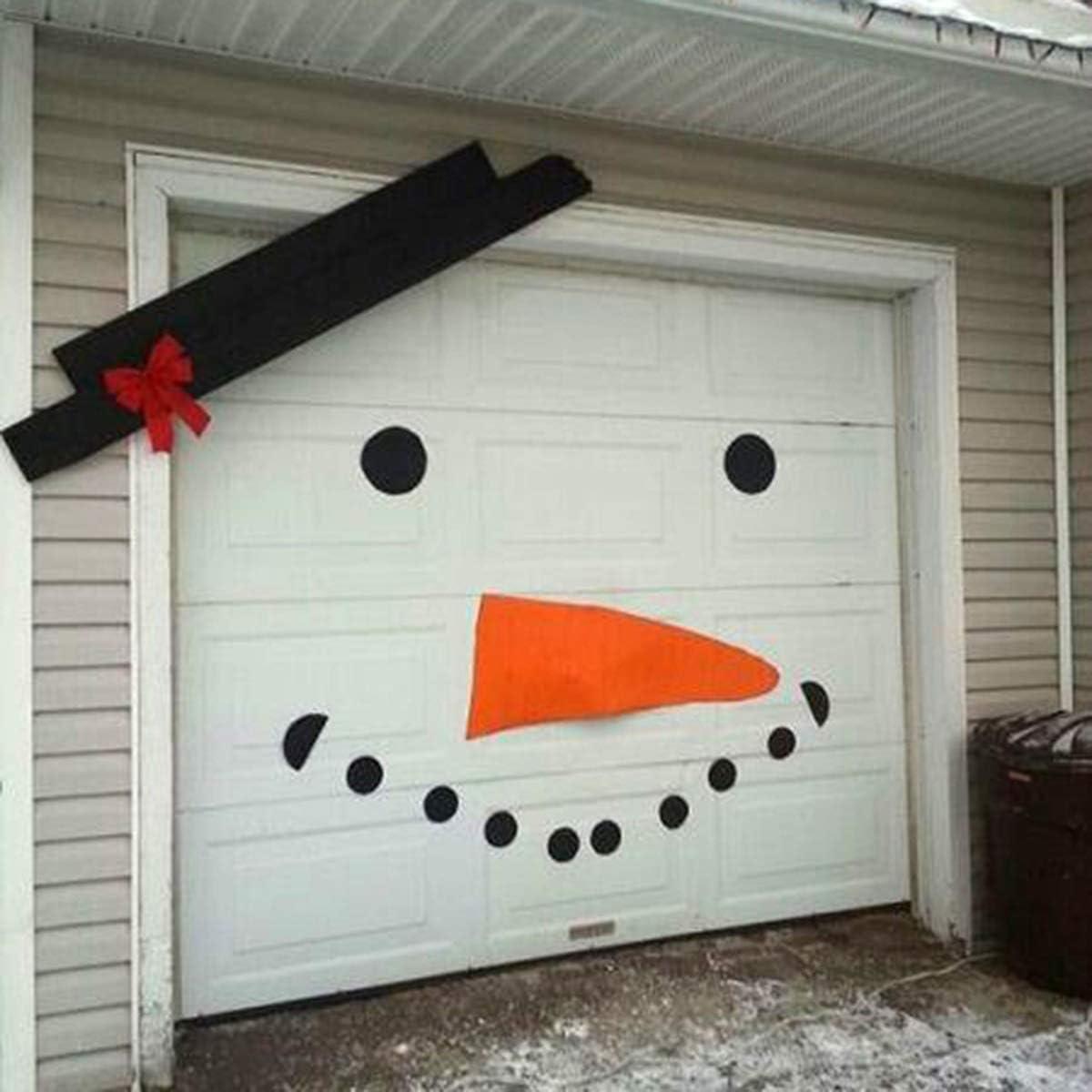 qwert DIY Christmas Snowman Face Wall Stickers 16pcs/Set Xmas Decoration Decals Wall Door Garage Window Ornaments Snowman Face Sticker