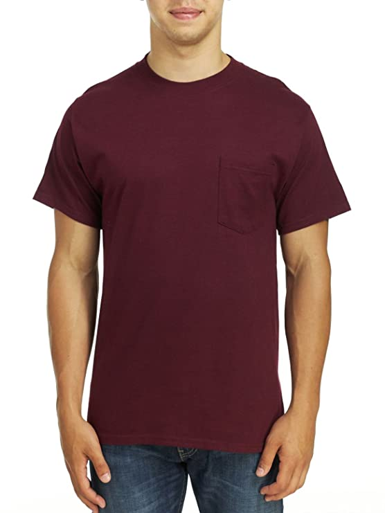 a550aed0a Amazon.com: Hanes Men's Beefy-T with Pocket 6.1 oz T-Shirt : Clothing