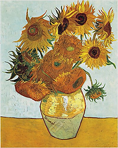 Vase with Twelve Sunflowers By Vincent Van Gogh. Art Poster Print ()