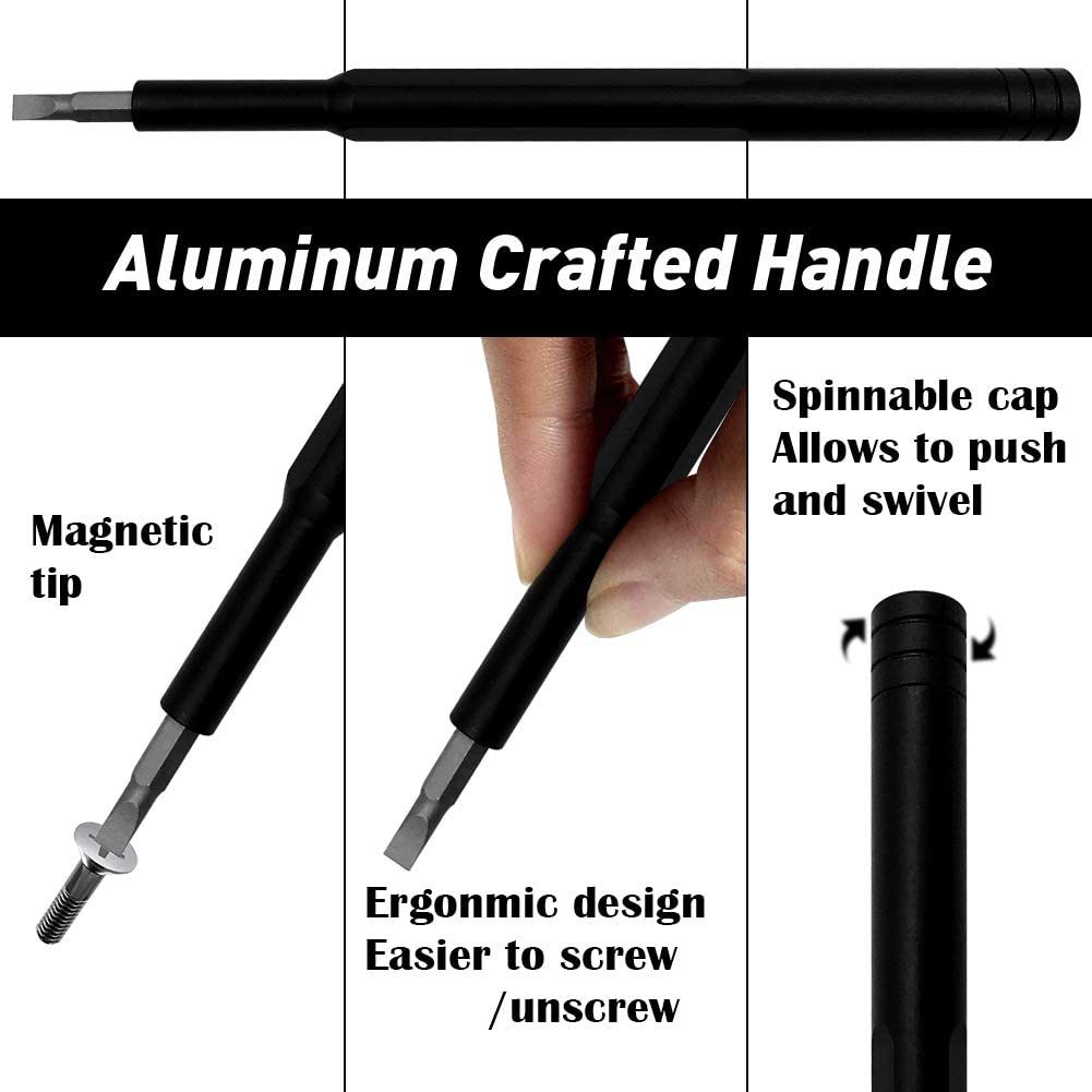 57 in 1 Electronics Repair Tool Kit,Precision Screwdriver Kit with 56 S2 Steel Bit with Aluminum Handle for Repairing PC Screwdriver Set MacBook Glasses Watches Phone Camera,Xbox,Laptop iPad