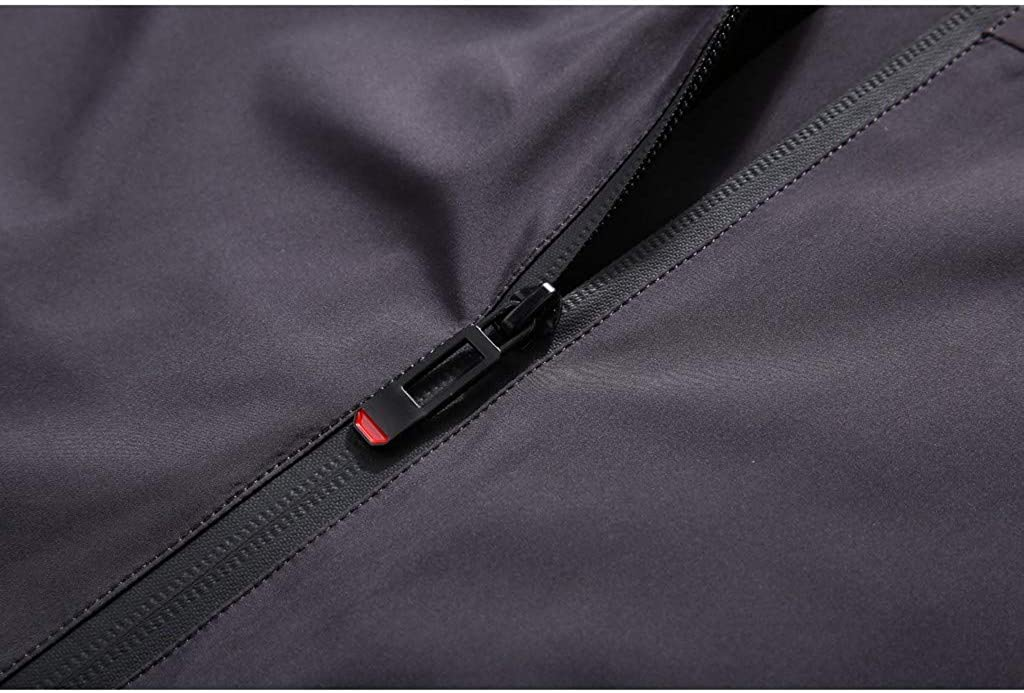 Snowmolle Mens Denim Jacket Breathable Lightweight Hooded Windbreaker Outdoor Casual Sportswear Zip Slim Fit Hoodie Coat