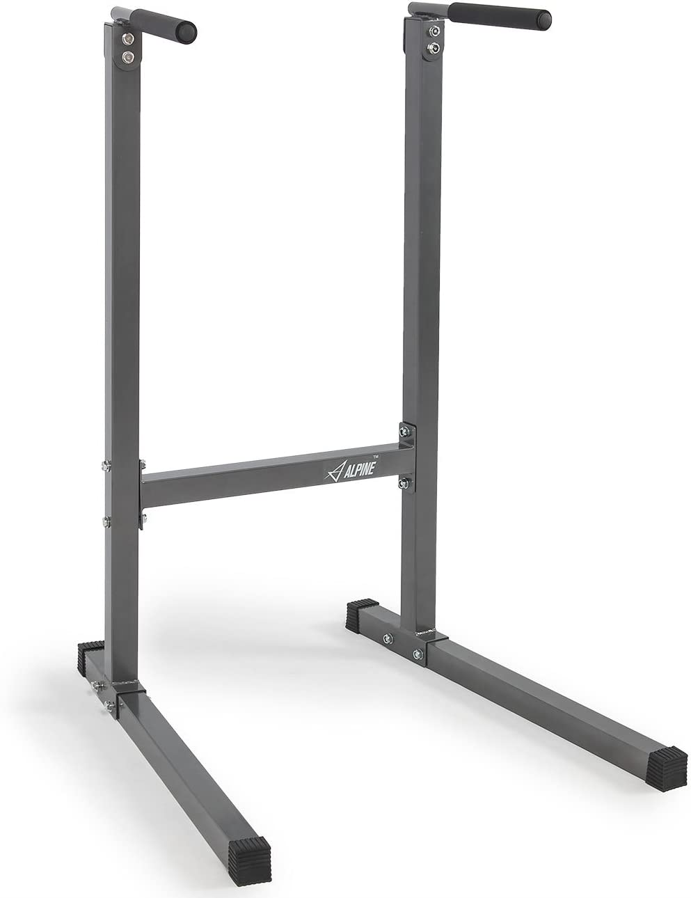 Akonza Heavy Duty Dip Stand Dip Station Tower Triceps Home Workout Gym -Gray