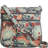 Vera Bradley Women's Triple Zip Hipster Nomadic Floral Cross Body