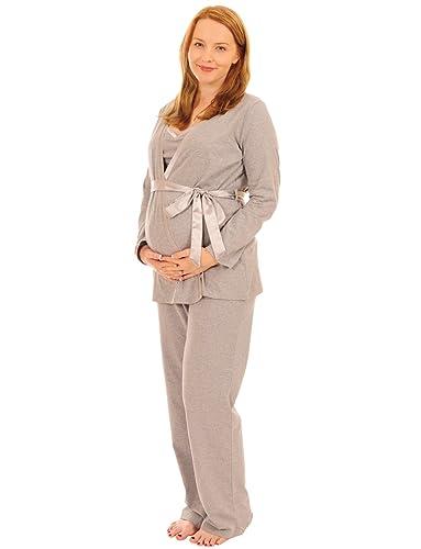 De color rosa pijama faja para maternidad Pixie de lactancia 3 piezas Juego de funda de fácil de pintar por tipo libro con función de albornoz para hombre: ...