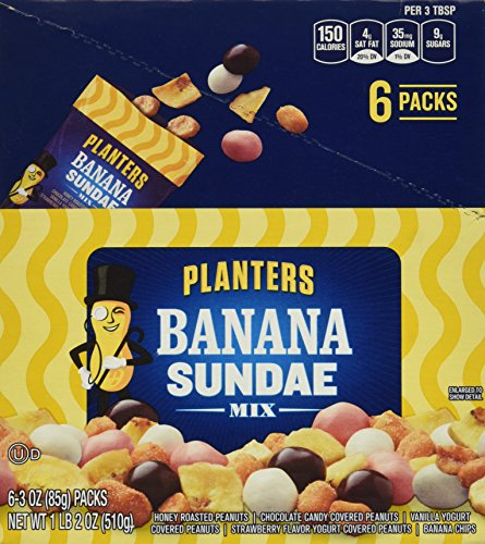 Chocolate Cashew Turtles Dunmore Candy Kitchen: Planters Banana Sundae Mix, 3.0 Ounce (Pack Of 6)