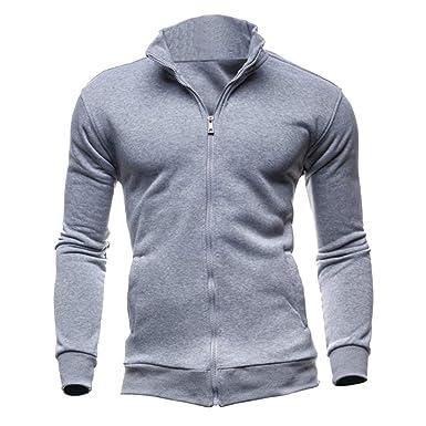 lower price with pre order buy best Sweat Zippé Homme Veste Sweat Shirt Sport Sweatshirt Pull Zippé Col Montant  Sweet Homme sans Capuche Veste Zippée Sweat Uni Zip Grande Taille Epais ...
