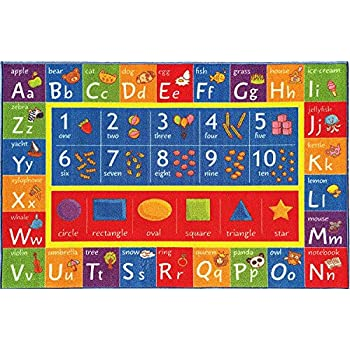 Kev   Cooper Playtime Collection ABC  Numbers and Shapes Educational Area  Rug   5 0  x 6 6. Amazon com  Kids Rug USA Map Area Rug 5  x 7  Children Area Rug