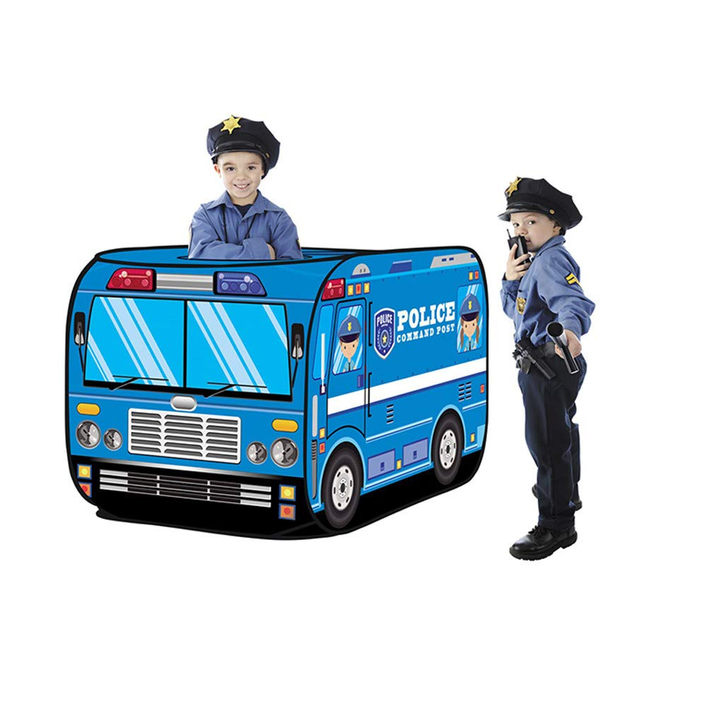 Kimanli Play with A Police Car デザインテント Happy Time to Play House 子供用 プレイテント 子供 教育 スキル向上 おもちゃ おもちゃ 道具   B07PGZLZ6K