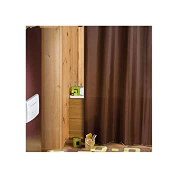Galedo Rideau de douche Intense Textile Marron: Amazon.fr: Cuisine ...