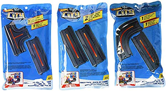 Hot Wheels City Track Pack Accessory, Straight + Straight + ...