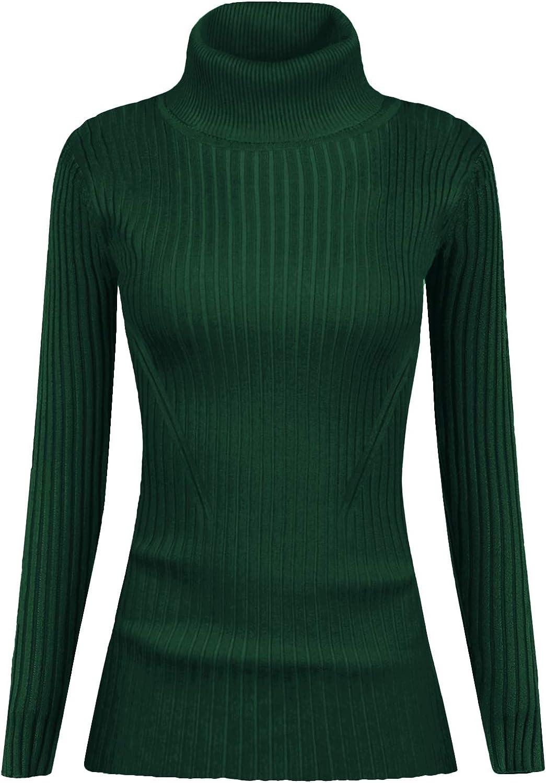 v28 Women Stretchable Korea Turtleneck Knit Long Sleeve Slim Sweater